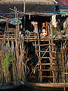 A house in the floating village of Kompong Phluk on the great Tonlé Sap lake, Cambodia