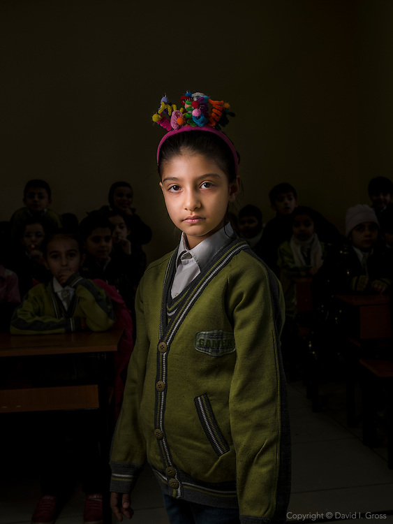 Rita, age 8, from Aleppo, is a Syrian refugee child at the Friendship Syrian school.