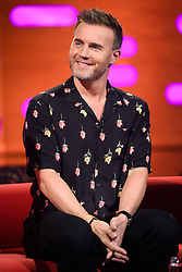 Gary Barlow during the filming of the Graham Norton Show at BBC Studioworks 6 Television Centre, Wood Lane, London, to be aired on BBC One on Friday evening.