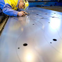TATA Steel Park Wednesfield - Images of the Prolfiling  Centre , Automotive Service Centre inspection of steel car part