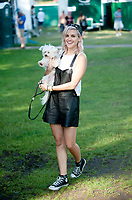 ashley Roberts with her dog at the  Guilfest Festival 2014 19 july 2014   Photo by Brian Jordan