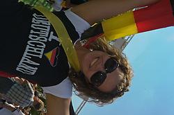 27.06.2010, Ritzheimer Platz, Lohne , GER, FIFA WM 2010, Germany (GER ) vs England (GB)., im  Bild  Fan Meile Lohne Stimmung bei Anastasia ( 24 ) aus Goldenstedt EXPA Pictures © 2010, PhotoCredit: EXPA/ nph/  Kokenge / SPORTIDA PHOTO AGENCY