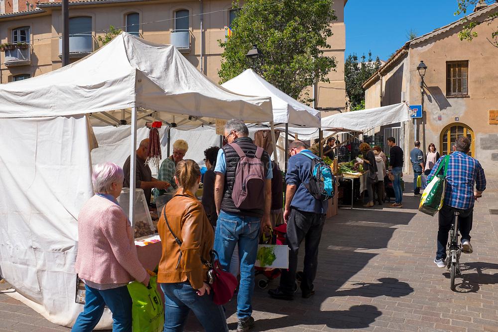 Organic Market, Sant Cugat del Valles, Barcelona, organised by Ateneu Santcugatenc. Catalonia, Spain