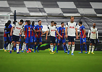 Football - 2020 / 2021 Premier League - Tottenham Hotspur vs Crystal Palace - Tottenham Hotspur Stadium<br /> <br /> Dejected Tottenham players after Christian Benteke of Crystal Palace headed their equalising goal on the stroke of half time<br /> <br /> Credit : COLORSPORT/ANDREW COWIE