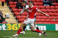 Tom Ince of Derby County taking a shot at goal. Skybet football league championship match, Charlton Athletic v Derby County at The Valley  in London on Saturday 16th April 2016.<br /> pic by Steffan Bowen, Andrew Orchard sports photography.