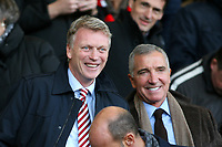 Football - 2016 / 2017 Premier League - AFC Bournemouth vs. Sunderland<br /> <br /> Sunderland Manager David Moyes laughs with Graeme Souness before kick off at Dean Court (The Vitality Stadium) Bournemouth<br /> <br /> COLORSPORT/SHAUN BOGGUST