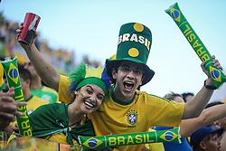 Torcida Brasileira na partida contra a Croácia na estréia da Copa do Mundo 2014, na Arena Corinthians, em São Paulo. FOTO: Jefferson Bernardes/ Agência Preview