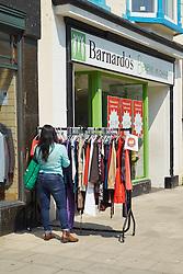 Barnardo's charity shop Aberystwyth Wales May 2016