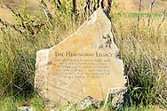 Hemingway Memorial at the Silver Creek Preserve near Sun Valley Idaho