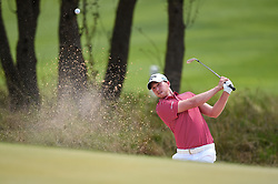 March 22, 2018 - Austin, Texas, U.S. - DANIEL BERGER hits out of a green-side bunker during the Second Round of the WGC-Dell Technologies Match Play on March 22, 2018 at Austin Country Club. (Credit Image: © Daniel Dunn/Icon SMI via ZUMA Press)