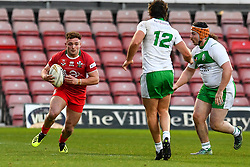 11th November 2018 , Racecourse Ground,  Wrexham, Wales ;  Rugby League World Cup Qualifier,Wales v Ireland ; Curtis Davies of Wales in action<br /> <br /> <br /> Credit:   Craig Thomas/Replay Images