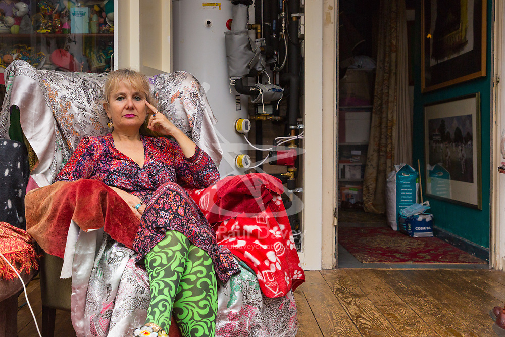 Artist Michelle Baharier, 55, is fighting payment demands by Southwark Council, the freeholders of her 2 bedroom  Camberwell flat, which she purchased in 2008 under the Right to Buy Scheme. London, November 16 2018.