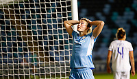 Football - 2021 / 2022 UEFA Womens Champions League - Round Two, Second Leg - Manchester City vs Real Madrid - MCFC Academy Stadium - Wednesday 8th September 2021<br /> <br /> Ellen white reacts to a missed chance <br /> <br /> Credit COLORSPORT/Lynne Cameron