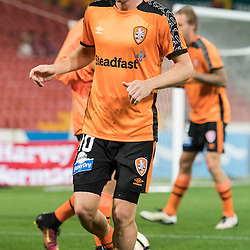 BRISBANE, AUSTRALIA - OCTOBER 7: Brett Holman of the Roar warms up during the round 1 Hyundai A-League match between the Brisbane Roar and Melbourne Victory at Suncorp Stadium on October 7, 2016 in Brisbane, Australia. (Photo by Patrick Kearney/Brisbane Roar)