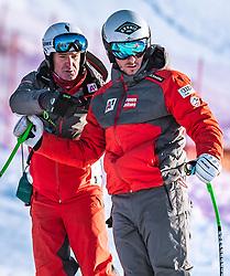 06.02.2019, Aare, SWE, FIS Weltmeisterschaften Ski Alpin, SuperG, Herren, Streckenbesichtigung, im Bild v.l.: Andreas Puelacher (Sportlicher Leiter ÖSV Ski Alpin Herren), Daniel Danklmaier (AUT) // f.l.: Andreas Puelacher Austrian Ski Association head Coach alpine Men's Daniel Danklmaier of Austria during the course inspection for the men's Super-G of FIS ski alpine world cup in Aare, Sweden on 2019/02/06. EXPA Pictures © 2019, PhotoCredit: EXPA/ Dominik Angerer