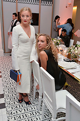 Left to right, KATE FOLEY and PHOEBE COLLINGS JAMES at a dinner to celebrate the exclusive Capsule collection: Maison Michel by Karl Lagerfeld held at Selfridges, 400 Oxford Street, London on 23rd February 2015.