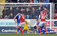 Conor Sammon (23) of Rotherham United scores the 2nd goal agains Ipswich Town during the Sky Bet Championship match at the New York Stadium, Rotherham<br /> Picture by Graham Crowther/Focus Images Ltd +44 7763 140036<br /> 07/02/2015