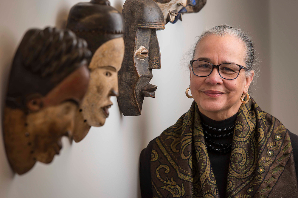 Michelle Barnes poses for a photograph at the Community Artist's Collective, January 14, 2015.
