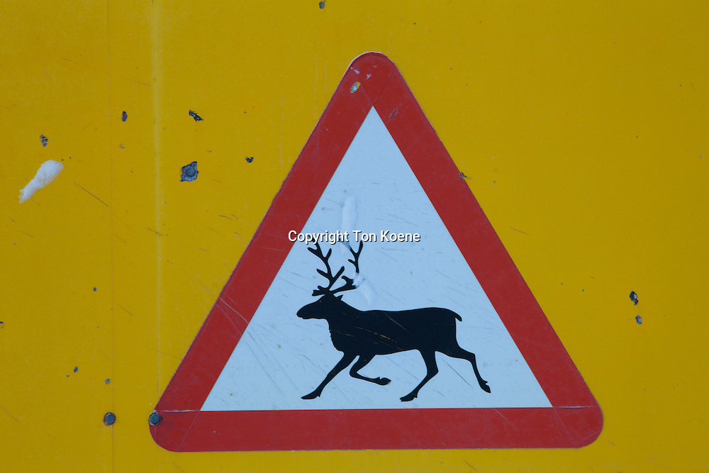 warning sign in Finland