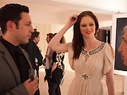 JAMES CONRAN; COCO ROCHA, BROWN'S 40TH ANNIVERSARY DINner. Regent Loft and Penthouses. Marshall St. London. 13 May 2010. -DO NOT ARCHIVE-© Copyright Photograph by Dafydd Jones. 248 Clapham Rd. London SW9 0PZ. Tel 0207 820 0771. www.dafjones.com.