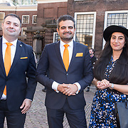 NLD/Den Haag/20180918 - Prinsjesdag 2018,  Tweede Kamerfractie leden van DENK Selcuk Ozturk, Farid Azarkan en Tunahan Kuzu