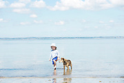 17/06/2014  Grace O'Connor from Boston Co. Clare enjoy paddle with a dog at the Flaggy Shore in Co. Clare  . <br />   Photo:Andrew Downes