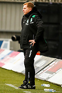 Hibernian FC Manager Neil Lennon with a rather striking pose during the Ladbrokes Scottish Premiership match between St Mirren and Hibernian at the Simple Digital Arena, Paisley, Scotland on 29th September 2018.