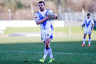 Workington Town hooker Sean Penkywicz (20)  during the Ladbrokes Challenge Cup round 3 match between Hunslet Club Parkside and Workington Town at South Leeds Stadium, Leeds, United Kingdom on 24 February 2018. Picture by Simon Davies.