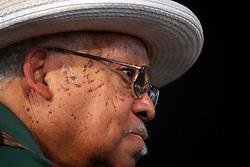 29 April 2012. New Orleans, Louisiana,  USA. <br /> New Orleans Jazz and Heritage Festival. <br /> Legendary jazz musician Ellis Marsalis. <br /> Photo credit; Charlie Varley/varleypix.com