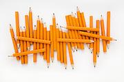 Pencils on White