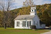White New England design church.