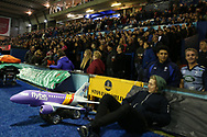 rugby fans. Guinness Pro14 rugby match, Cardiff Blues v Dragons at the Cardiff Arms Park in Cardiff, South Wales on Friday 6th October 2017.<br /> pic by Andrew Orchard, Andrew Orchard sports photography.