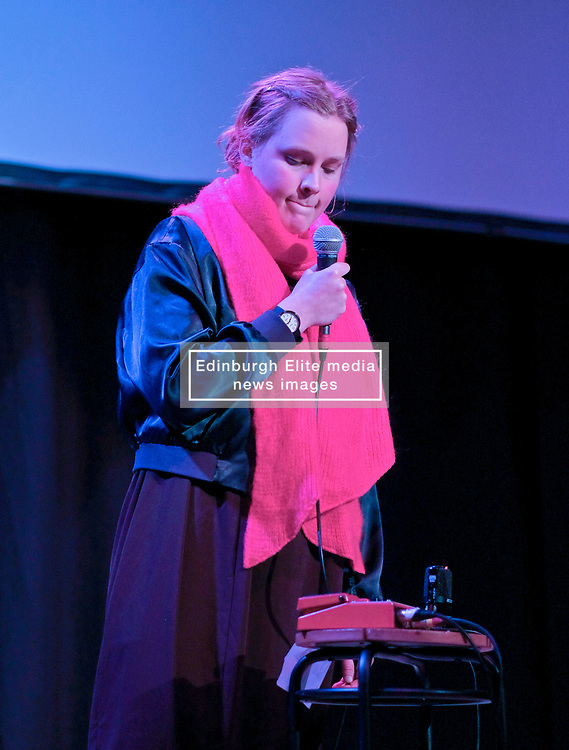 Poppy Ackroyd Performance, Friday 11th May 2018<br /> <br /> Poppy Ackroyd is a performer and composer from London, currently based in Brighton. Classically trained on violin and piano from an early age, she studied piano and composition at Edinburgh University before completing a masters degree in Piano Performance. <br /> <br /> In 2017 she signed to Bjork's label One Little Indian.<br /> <br /> The support act was Maria Rossi from Glasgow performing under the alias Cucina Povera.<br /> <br /> Pictured: Cucina Povera<br /> <br /> (c) Alex Todd   Edinburgh Elite media