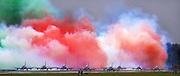 The Italian Frecce Tricolori acrobatics team at the Royal International Air Tattoo (RIAT) Air Show July 2009