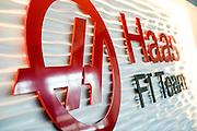 December 11, 2015: Haas F1 Team logo
