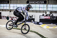 #690 (CHAPELLE Theo) FRA during practice at the 2019 UCI BMX Supercross World Cup in Manchester, Great Britain