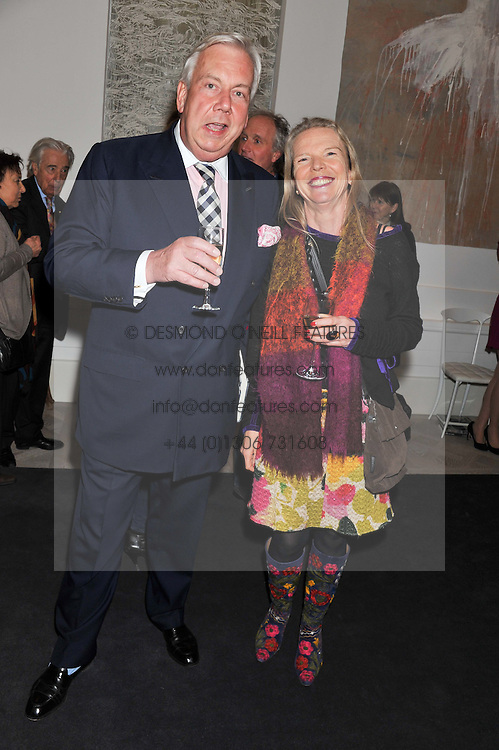 DAVID McDONOUGH and VANESSA BRANSON at a party to celebrate the publication of Mum's The Word by Eve Branson held at Grace, West Halkin Street, London on 11th March 2013.
