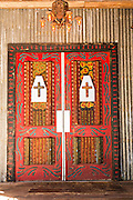 Howard Finster style Folk art decorated doors for the House of Blues at Main Street Disney World in Lake Buena Vista, Florida.