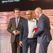 NLD/Amsterdam/20180412 - Prins Constantijn en Prinses Laurentien aanwezig bij uitreiking World Press Photo of the Year