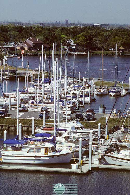 1987 Seabrook Shipyard Marina from bridge