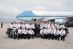 President Donald J. Trump departs Palm Beach International Airport Sunday, April 22, 2018, in Palm Beach, Florida, en route Washington, D.C.   (Official White House Photo by Shealah Craighead)