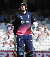 Cricket - 2017 ICC Champions Trophy - Group A: England vs. Bangladesh<br /> <br /> Joe Root of England feels the pain after spraining his ankle at The Kia Oval.<br /> <br /> COLORSPORT/ANDREW COWIE