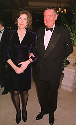 LORD & LADY VESTEY at a dinner in London on 17th November 1998. MMB 22