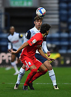 Preston North End's Ryan Ledson battles with Birmingham City's Mikel San Jose<br /> <br /> Photographer Dave Howarth/CameraSport<br /> <br /> The EFL Sky Bet Championship - Preston North End v Birmingham City - Saturday 31st October 2020 - Deepdale - Preston<br /> <br /> World Copyright © 2020 CameraSport. All rights reserved. 43 Linden Ave. Countesthorpe. Leicester. England. LE8 5PG - Tel: +44 (0) 116 277 4147 - admin@camerasport.com - www.camerasport.com