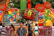 Fairground, Chit Lom district at night, Bangkok