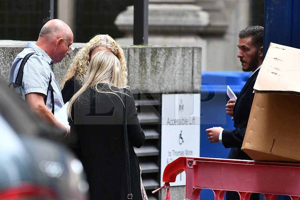 © Licensed to London News Pictures. 24/07/2017. London, UK. CHRIS GARD and CONNIE YATES seen at The The Royal Courts of Justice in London AFTER they have withdrawn their legal bid for further treatment in their son . The parents of terminally ill Charlie Gard returned to the High Court in light of new evidence relating to potential treatment for their son's condition. An earlier lengthy legal battle ruled that Charlie could not be taken to the US for experimental treatment. London, UK. Photo credit: Ben Cawthra/LNP