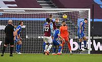 Football - 2020 / 2021 Premier League - West Ham United vs Brighton & Hove Albion - London Stadium<br /> <br /> West Ham United's Tomáš Sou?ek scores his side's second goal.<br /> <br /> COLORSPORT/ASHLEY WESTERN