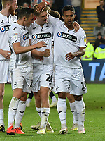 Football - 2018 / 2019 Sky Bet EFL Championship - Swansea City vs. Derby County<br /> <br /> Wayne Routledge Swansea City celebrates scoring his team's first goal, at The Liberty Stadium.<br /> <br /> COLORSPORT/WINSTON BYNORTH