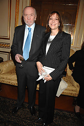 MR & MRS HERBERT KRETZMER at a party to celebrate the publication of The End of Sleep by Rowan Somerville held at the Egyptian Embassy, London on 27th March 2008.<br /><br />NON EXCLUSIVE - WORLD RIGHTS