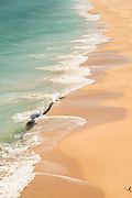 High angle view of sea and beach, Cadiz, Andalusia, Spain